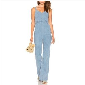 Alice + Olivia Cristal Jumpsuit in Light Chambray